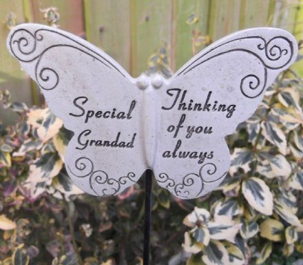 Memorial Butterfly Special Grandad Graveside Ornament